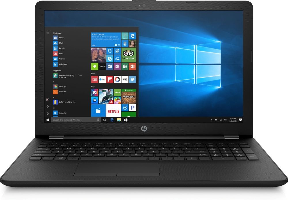 "Ноутбук HP 15-bs180ur Pentium 4417U/4Gb/500Gb/Intel HD Graphics 610/15.6""/HD (1366x768)/Windows 10/black/WiFi/BT/Cam"
